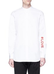 Ports 1961 ' Love' Embroidered Shirt White