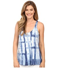 Calvin Klein Jeans Sleeveless Tie Dye Shirt Deep Denim Women's Sleeveless Black