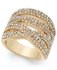 Inc International Concepts Gold Tone Multi Layer Pave Ring Only At Macy's