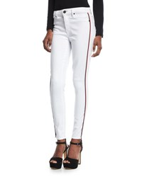 Parker Smith Ava Skinny Jeans W Racing Stripes Eternal White