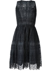 Ermanno Scervino Ruched Lace Dress Grey