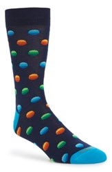 Lorenzo Uomo Men's Ombre Dot Crew Socks
