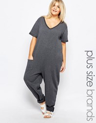 Pink Clove Lounge Slouchy Jumpsuit Gray