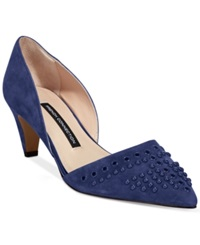 French Connection Kodee Mid Heel Pumps Women's Shoes Blue