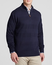 Brooks Brothers Textured Tonal Stripe Quarter Zip Sweater Nasign Camel Suede