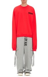 Hood By Air Men's Little Lamb French Terry Sweatshirt Red