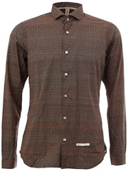 Dnl Classic Collar Longsleeved Shirt Brown