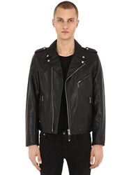 Schott Perfect Leather Biker Jacket Black