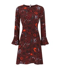 Sandro Sofia Floral Dress Female Burgundy