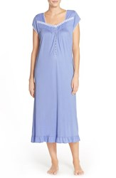 Women's Eileen West 'Agean' Cap Sleeve Ballet Nightgown Caribbean Blue