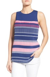 Women's Tommy Bahama 'Bonaire Stripe' Mixed Media Tank