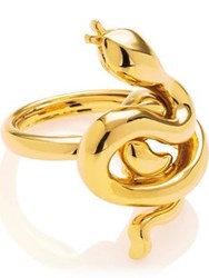 Kenneth Jay Lane Snake Ring Gold Plated