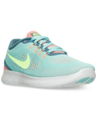 Nike Women's Free Run Running Sneakers From Finish Line Hyper Turq Ghost Green La