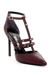 Charles David Carilla T Strap Studded Pump Red