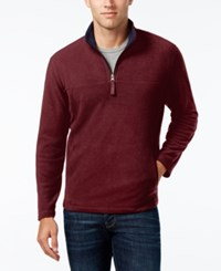 Club Room Men's Micro Fleece Sweater Only At Macy's Clay Red