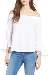 Soprano Women's Bell Sleeve Off The Shoulder Blouse