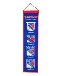 Winning Streak New York Rangers Heritage Banner Blue Orange