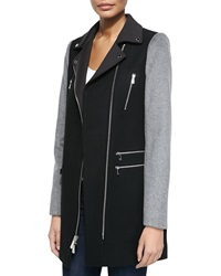 Dawn Levy Notched Collar Moto Coat Large 12