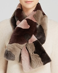Manzoni 24 For Maximilian Patchwork Rabbit Scarf Rose Camouflage