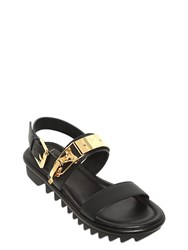 Giuseppe Zanotti Leather Sandals With Ski Closure Detail