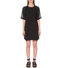Allsaints Uma Chiffon Dress Black