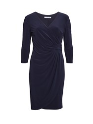 Gina Bacconi Ps Jersey Dress With Sequin Insert Navy