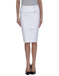 Roccobarocco Knee Length Skirts White