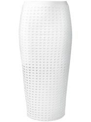 Alexander Wang T By Circular Hole Skirt White