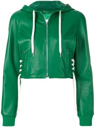 Red Valentino Laced Detail Jacket Green