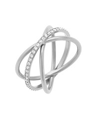 Michael Kors Silvertone Criss Cross Ring