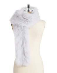 Surell Fox Fur Scarf Natural
