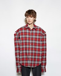 Vetements Flannel Shirt Red Check
