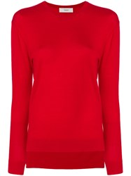Pringle Of Scotland Round Neck Sweater Merino Red