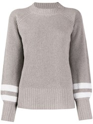 Eleventy Crew Neck Knitted Sweater Grey