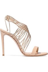 Casadei Evening Strap Detailed Leather Sandals Neutral