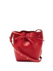 Mansur Gavriel Red Lined Mini Mini Leather Bucket Bag Red