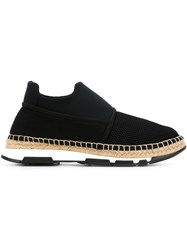 Dolce And Gabbana Mesh Panel Espadrilles Black