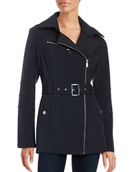 Bcbgeneration Asymmetric Zip Softshell Jacket Ink