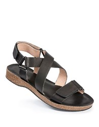 Me Too Adora Leather Strappy Sandals Black
