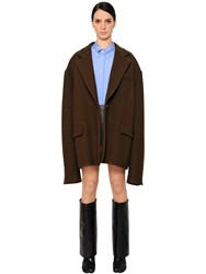 Maison Martin Margiela Oversized Wool Blend Coat