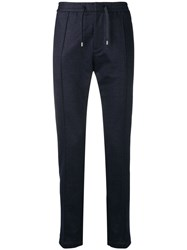 Emporio Armani Fitted Chino Trousers Blue