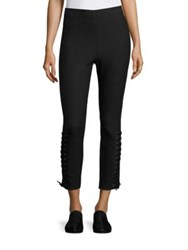 Derek Lam Lace Up Detailed Leggings Black