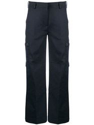 Acne Studios Workwear Style Cropped Trousers Blue