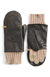 Women's Echo 'Touch Glitten' Knit And Leather Gloves