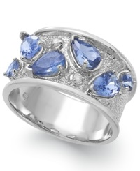 Macy's Tanzanite 1 3 4 Ct. T.W. And Diamond Accent Ring In Sterling Silver