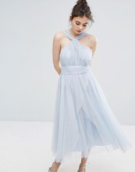 Oasis Tulle Mid Dress Multi