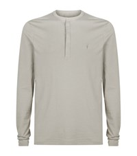 Allsaints Mesa Long Sleeve Henley T Shirt Male Neutral