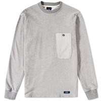 Bleu De Paname Sailor Pocket Crew Sweat Grey
