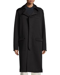 Opening Ceremony Long Sleeve Cocoon Coat Black