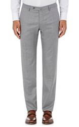 Incotex Men's S Body Slim Fit Wool Cashmere Trousers Grey